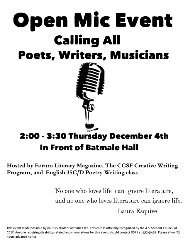 Open Mic Reading - Untitled Page