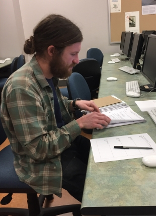 Fiction editor Bryce gets work ready for his fiction group