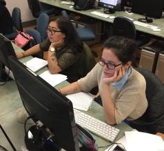 Left: Obo (Managing Editor), Right: Carolina (General Editor)