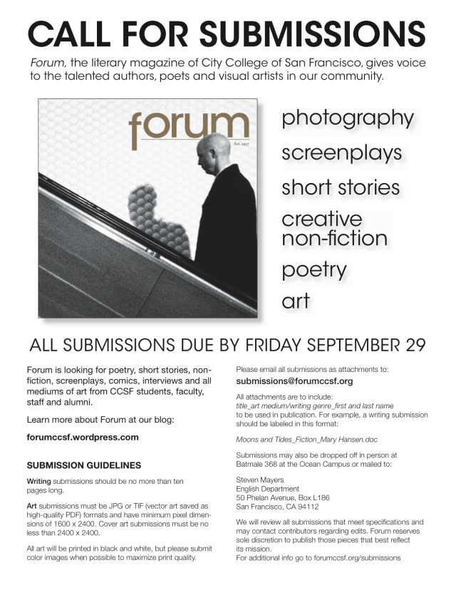 Forum Submissions Flyer Fall 2017 Sept 29