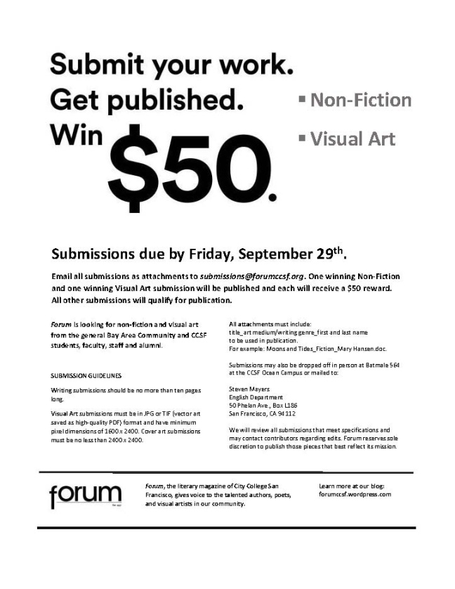 Forum Contest Flyer