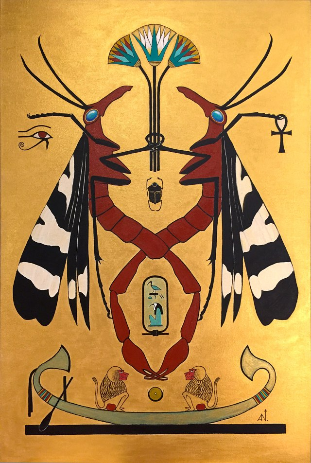 Visual Arts – BUGSUR – THOTH – Acrylic on Canvas