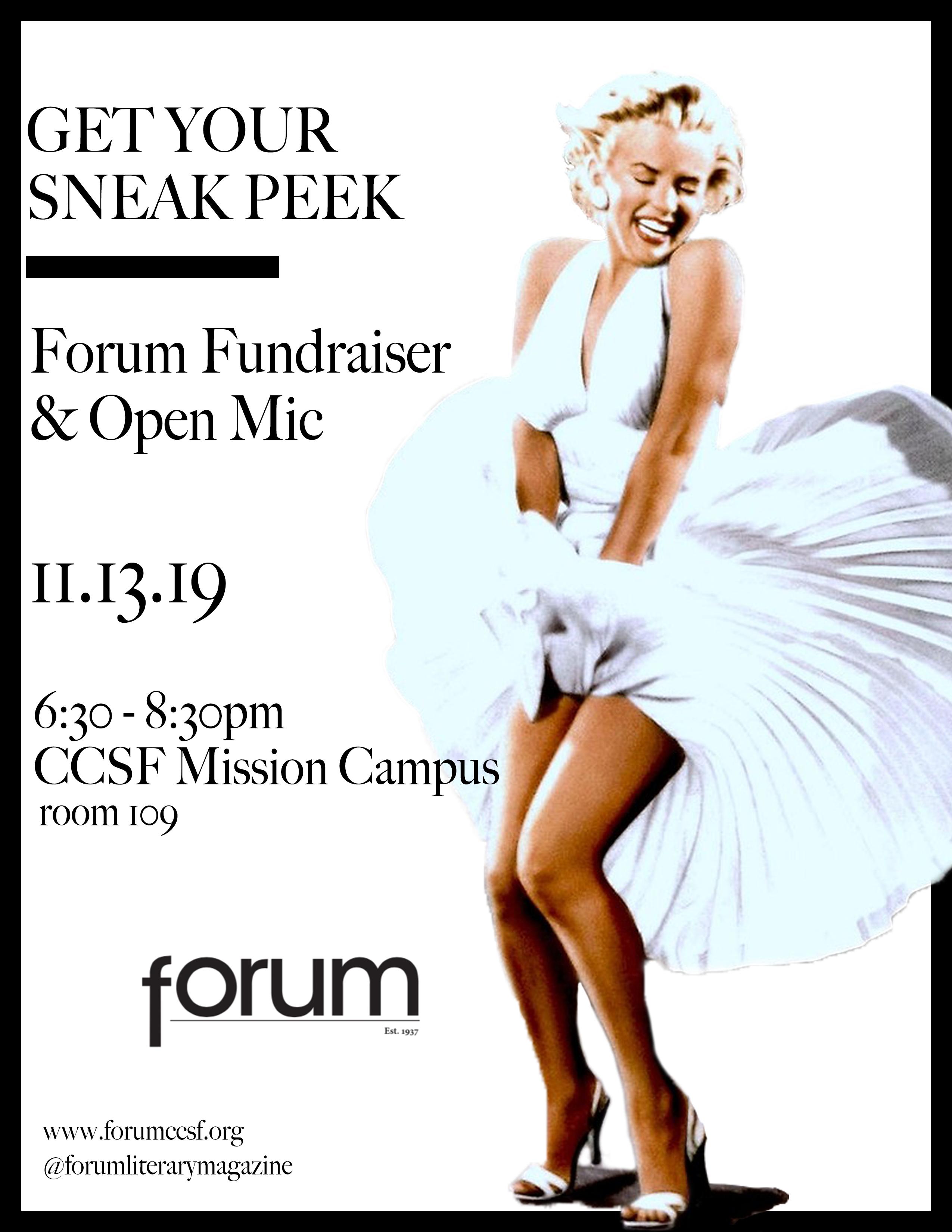 Forum Open Mic - November 13