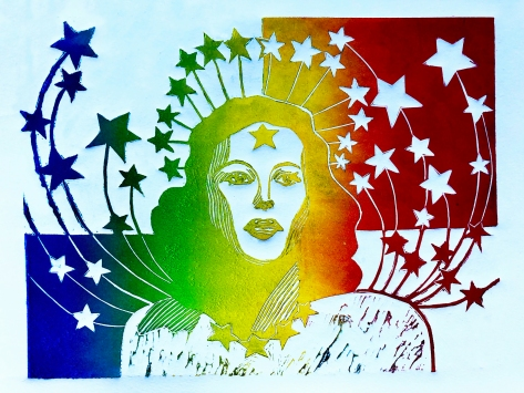 Hedy Lamarr_Visual Arts_Relief Print