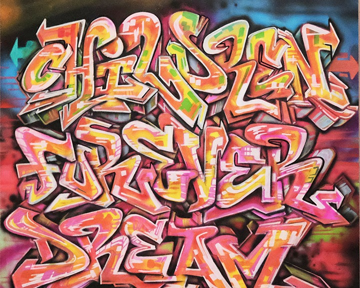 Graffiti style painting
