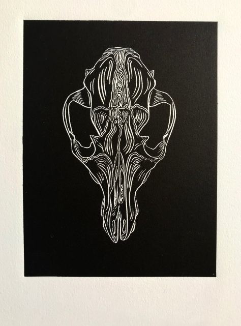 Copy of Canid IV_Visual Arts_Linocut Print